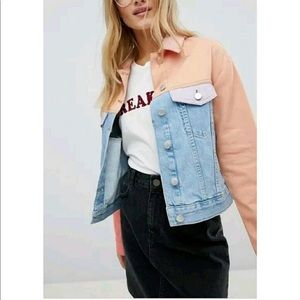 ASOS Denim Pastel Multicolor Jacket